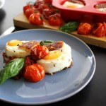 Egg Muffins With Halloumi & Tomatoes