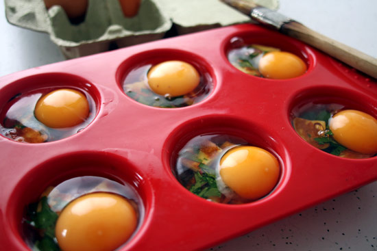 Baking eggs in a muffin tray