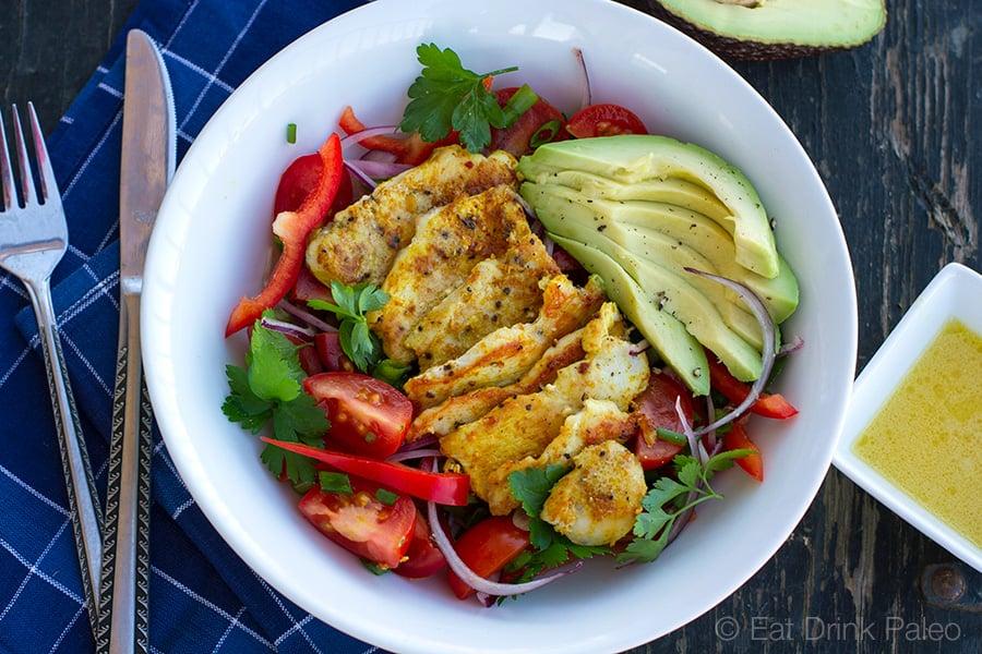 Paleo Chicken & Avocado Salad