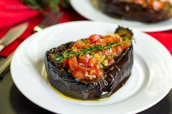 Paleo Eggplant Recipe - Baked Aubergine With Italian Tomato Salsa