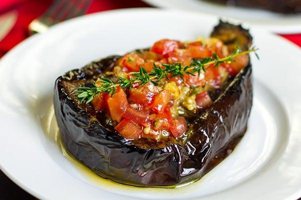 Paleo Roasted Eggplant