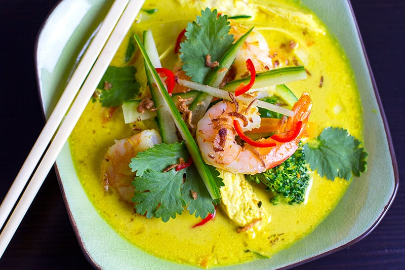 Paleo Thai Laksa Soup With Prawn & Chicken
