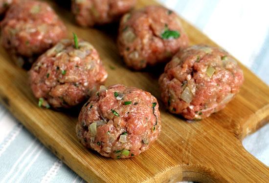 Making paleo meatballs
