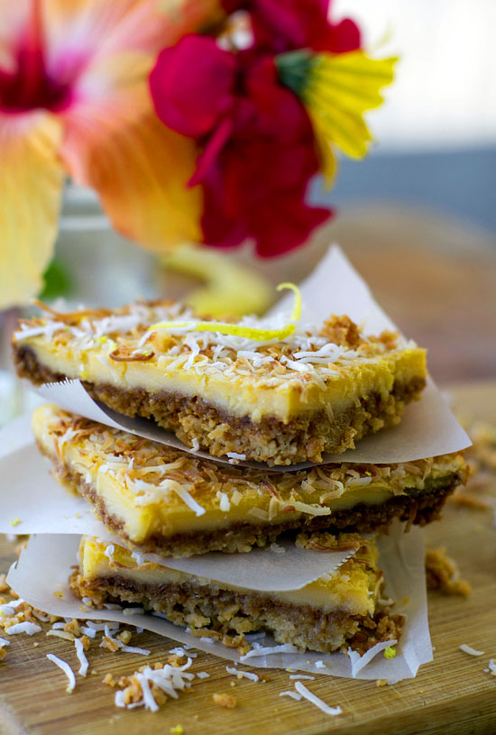 Gluten-free Lemon & Coconut Slice