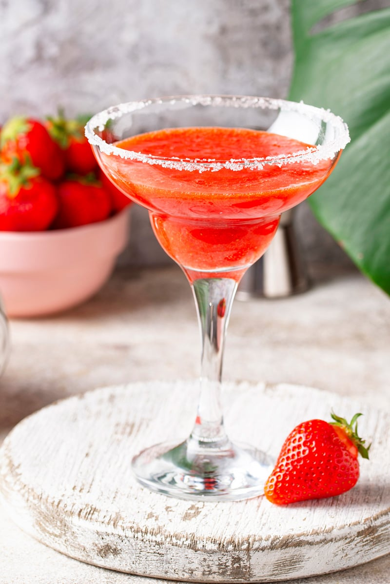 Fresh Strawberry Margarita Cocktail Irena Macri Food Fit For Life