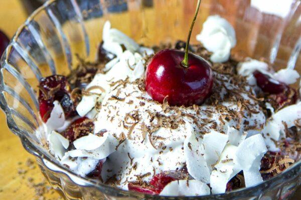 Paleo Black Forrest Cake Dessert Bowl