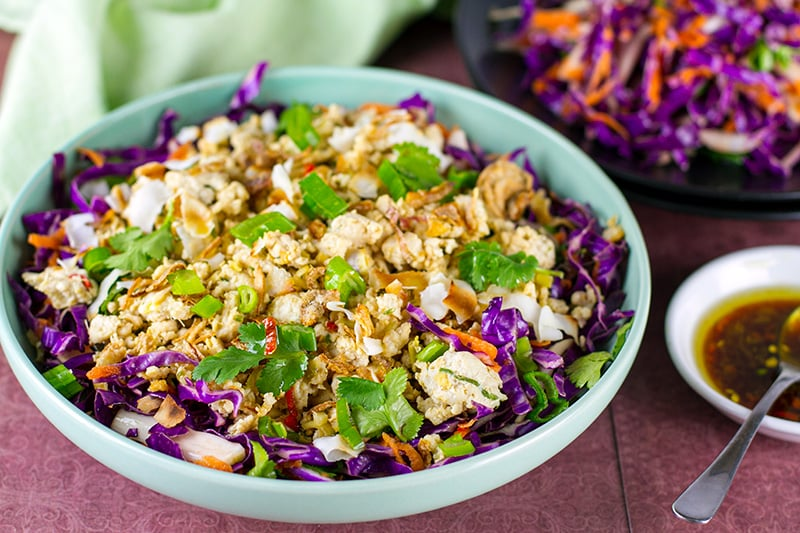 Chicken larb salad (paleo, Whole30, keto, gluten-free)