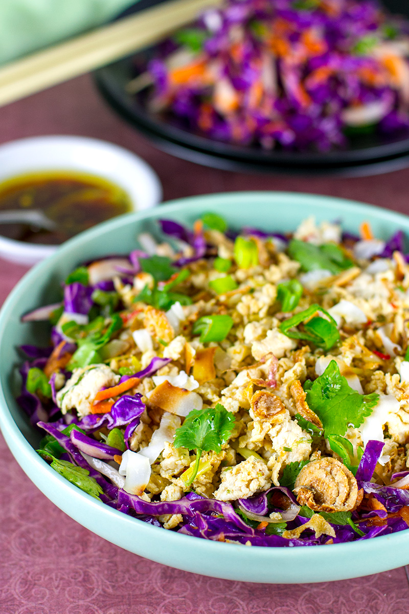 Chicken larb salad recipe (paleo, Whole30, keto, gluten-free)