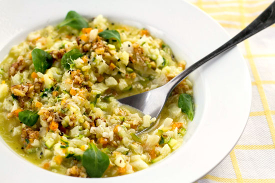 paleo risotto with vegetables