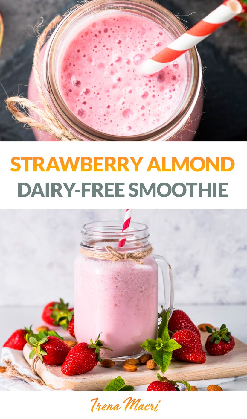 Strawberry Coconut Almond Smoothie (Paleo, Vegan)