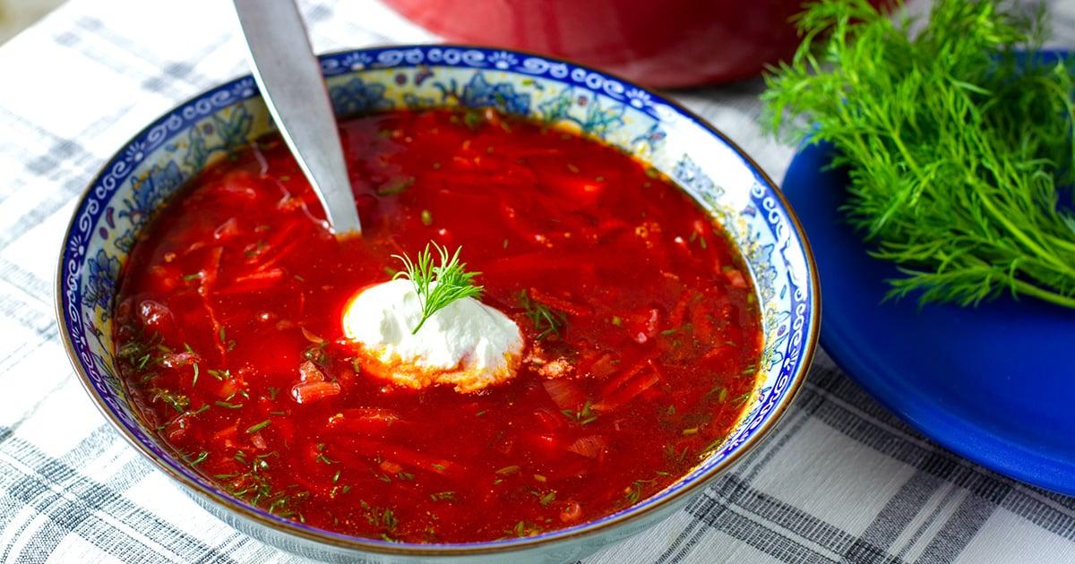 Borscht Soup Vegetarian Gluten Free Paleo