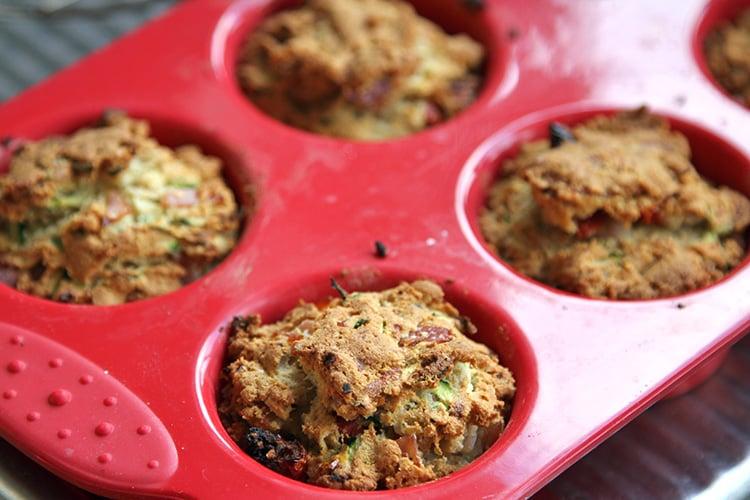 Savoury Zucchini Muffins With Ham (Paleo, Grain-free)
