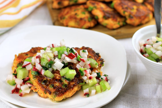 Ground salmon fishcakes