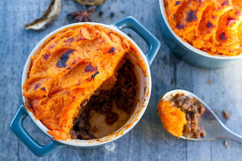 Paleo Shepherd's Pies with Porcini Mushrooms