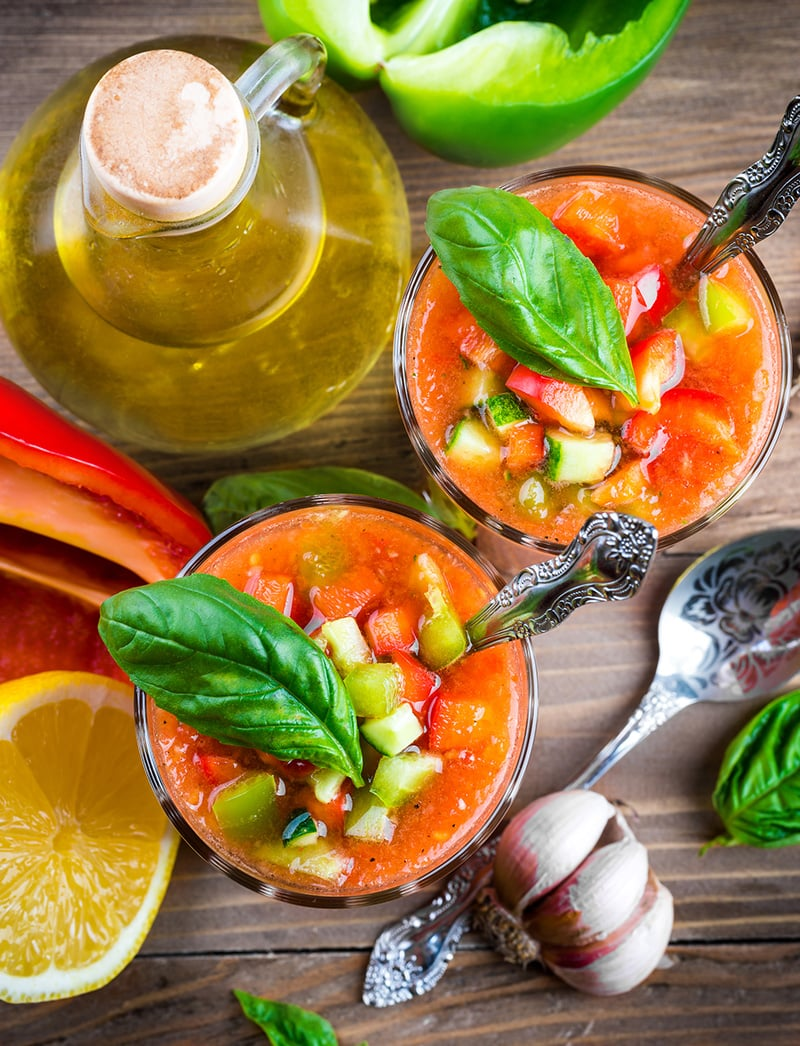 Gazpacho Soup Recipe (Bread Free, gluten-free, paleo, Whole30, vegan)