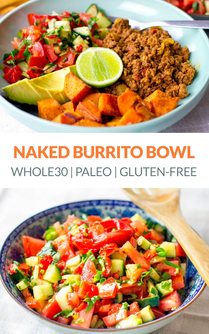 Healthy Naked Burrito Bowl (Paleo, Whole30, Gluten-Free)