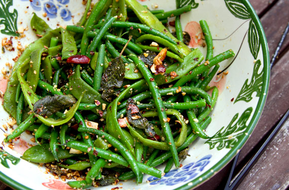 green beans with sage almond butter recipe