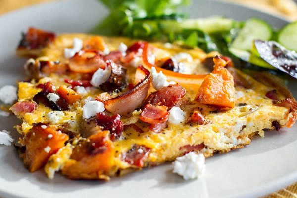 Bacon Omelette With Sweet Potato