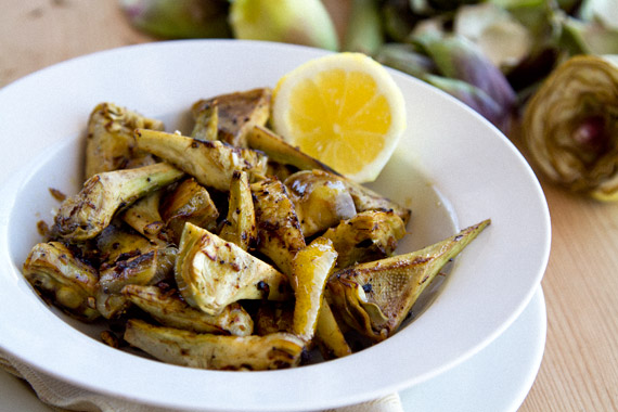 garlic lemon anchovy artichokes recipe