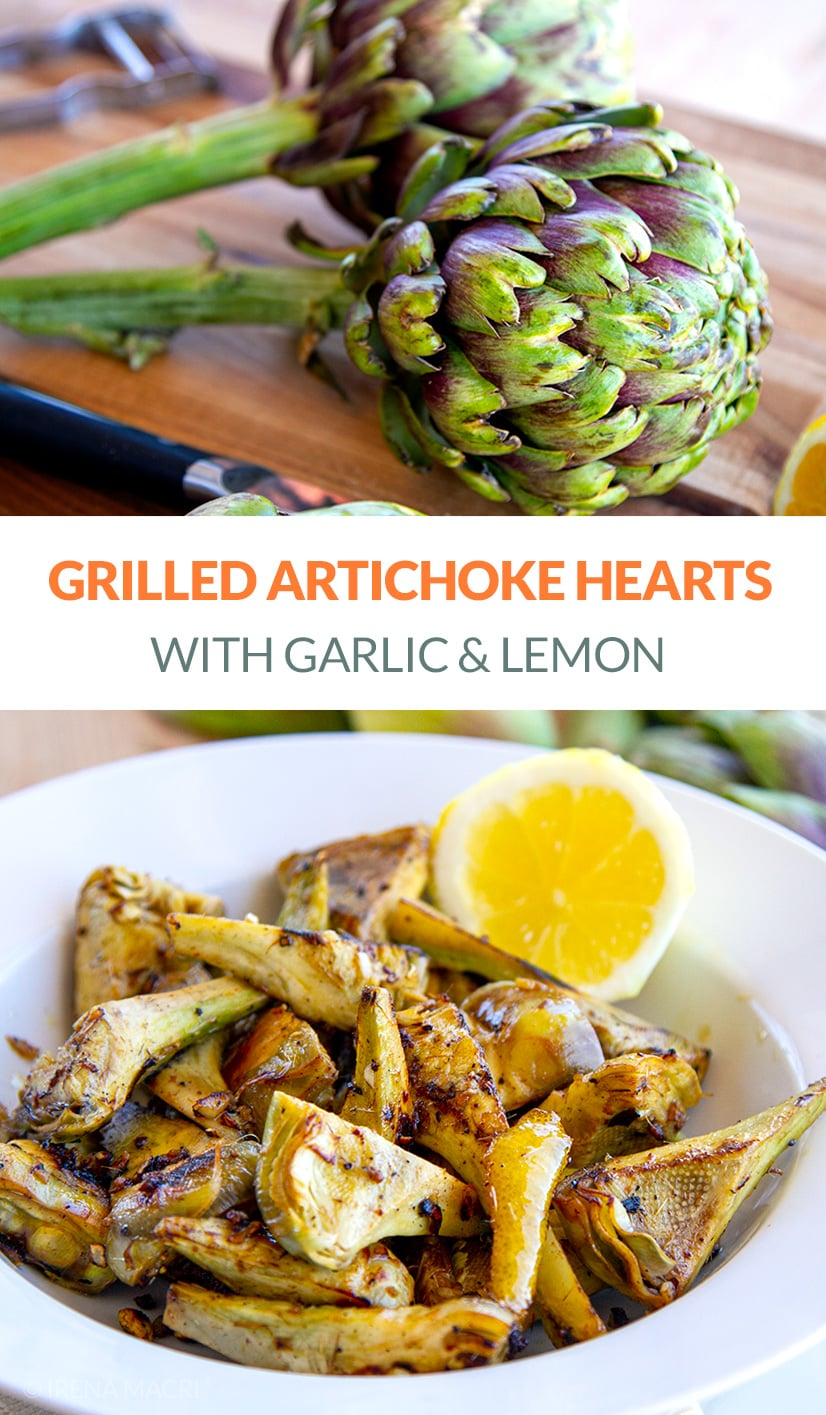 Grilled Artichoke Hearts With Lemon & Garlic