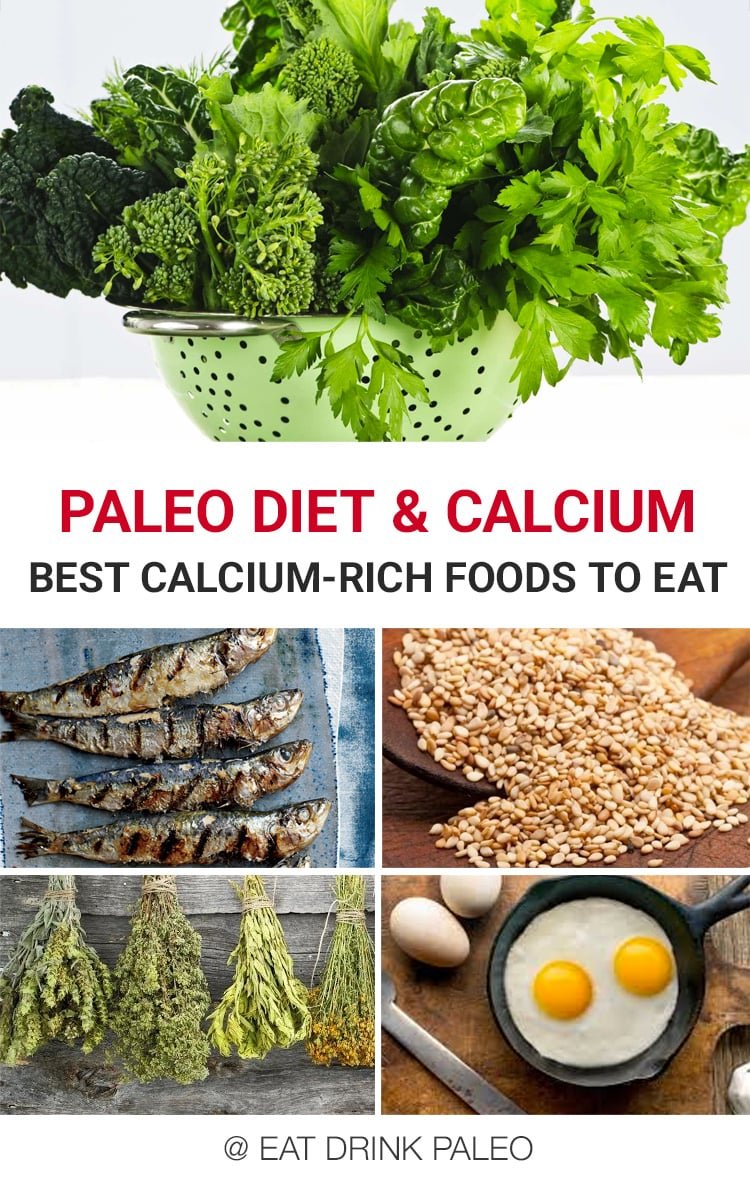 Paleo Diet & Calcium: What Are The Best Calcium-Rich, Non-Dairy Foods To Eat