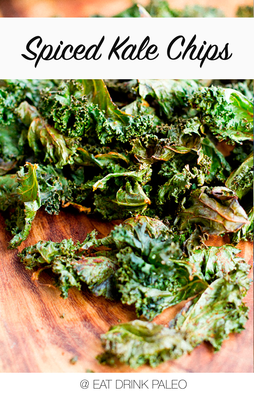 Spiced Kale Chipes (Paleo, Vegan, Gluten-Free, Low-Carb)