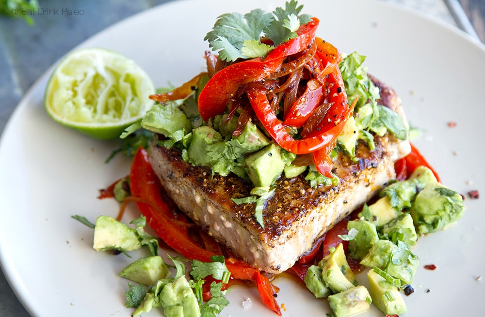 paleo tuna steaks meal