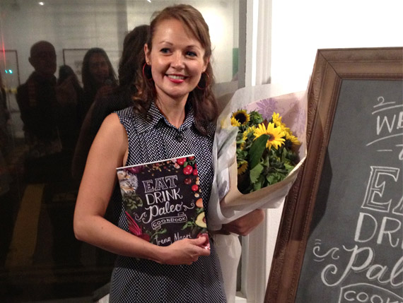 Irena at Eat Drink Paleo Cookbook launch