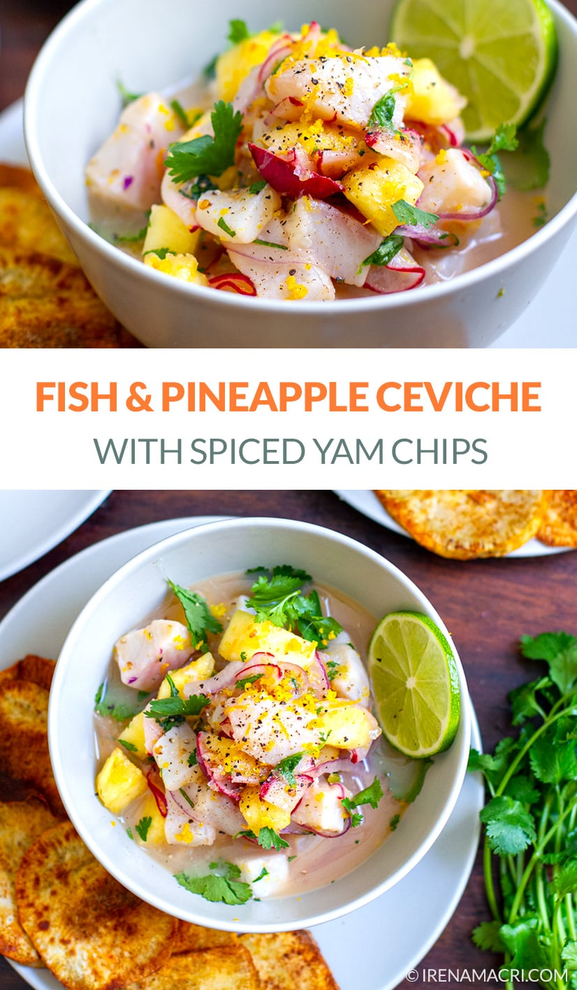 Fish Ceviche With Pineapple & Yams