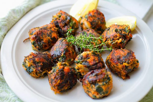 Sweet Potato & Spinach Balls