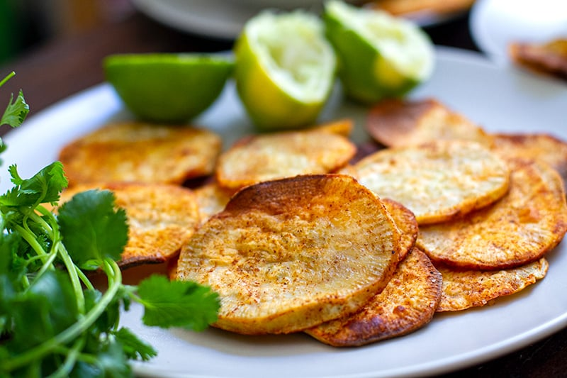 Yam chips (sweet potato chips)