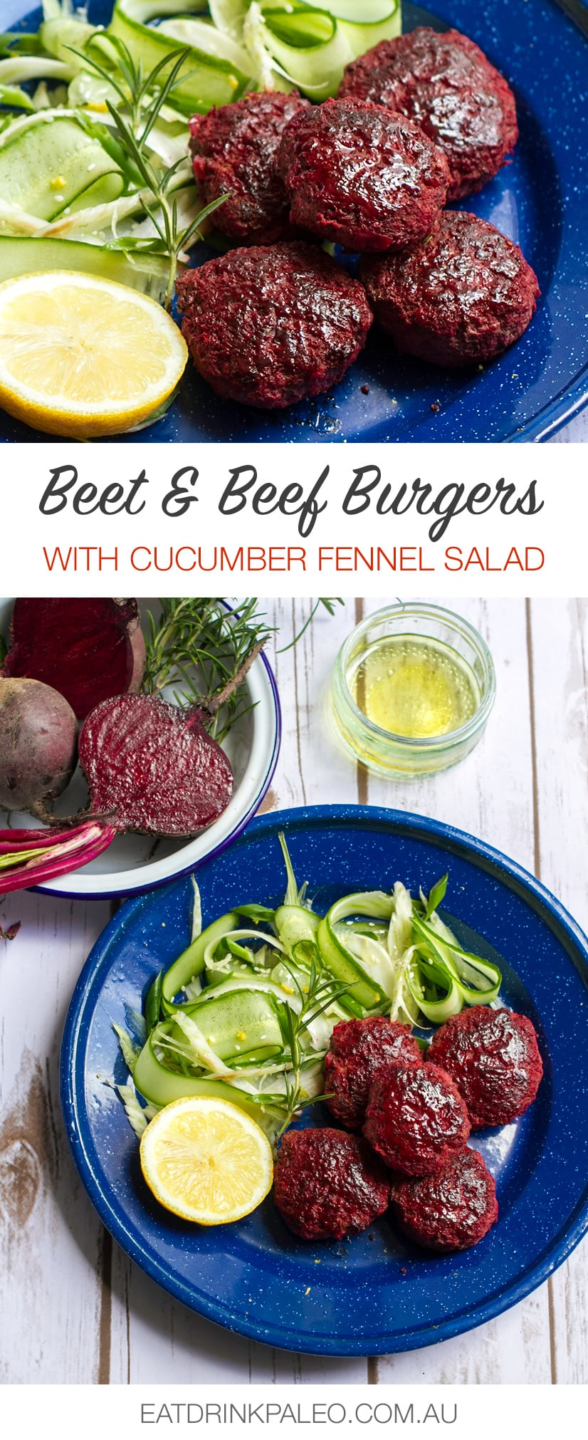 Beetroot & Beef Burgers With Rosemary (Paleo, Whole30, Gluten-Free Recipe)
