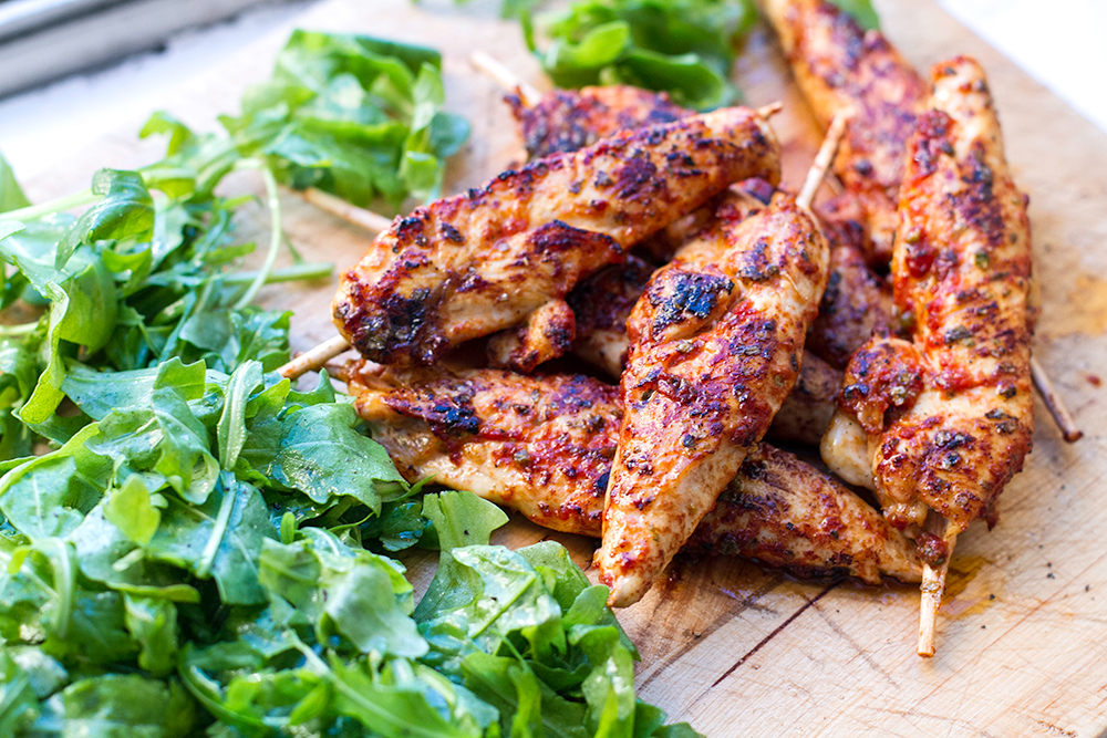 Paleo chicken skewers