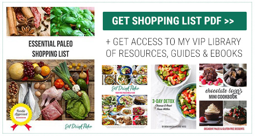 paleo shopping list subscribe