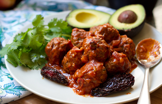 Spicy Chipotle Meatballs by Eat Drink Paleo
