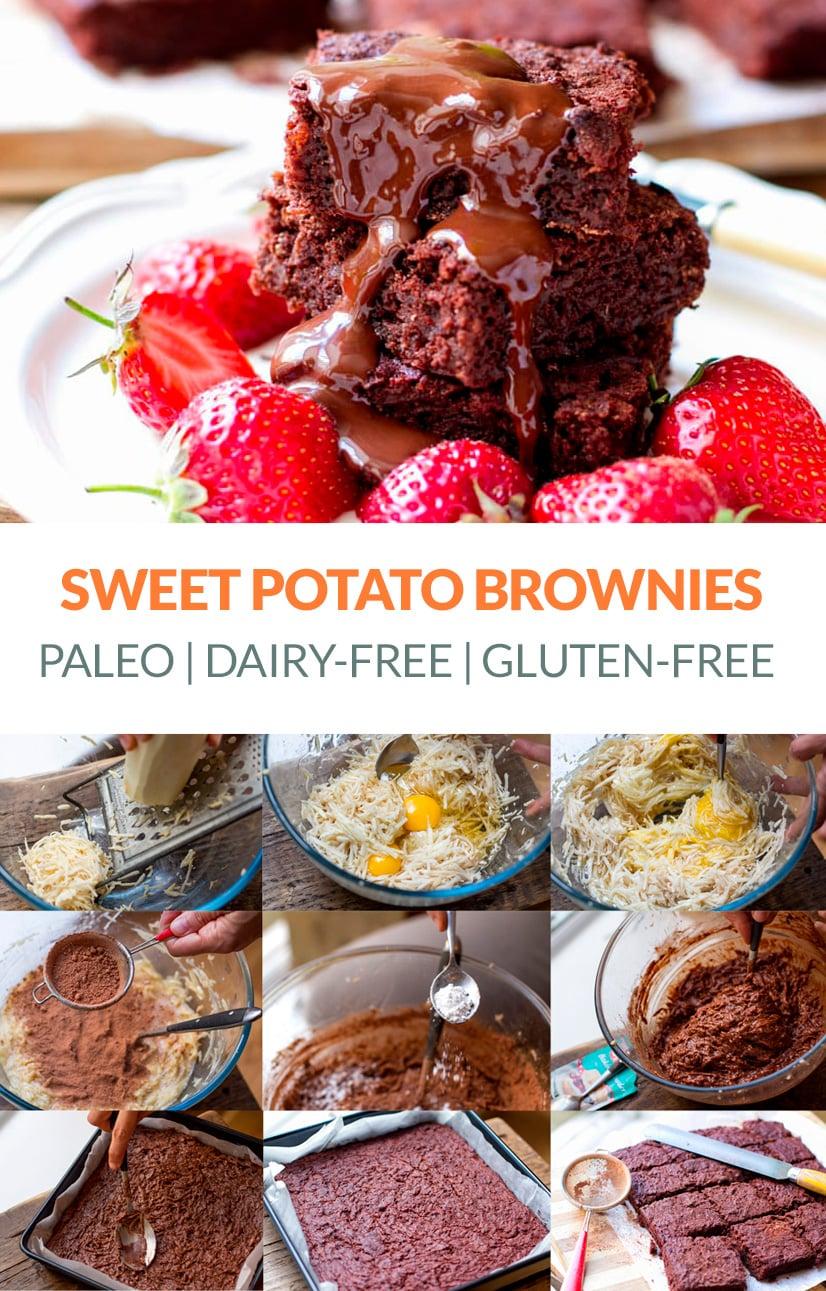 Paleo Sweet Potato Chocolate Brownies
