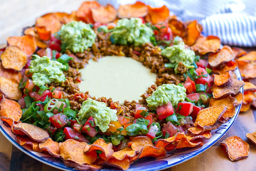 Paleo Nachos With Sweet Potatoes