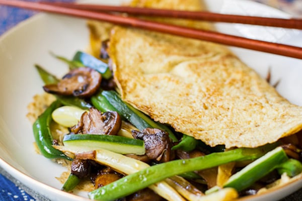 Asian mushroom omelette paleo