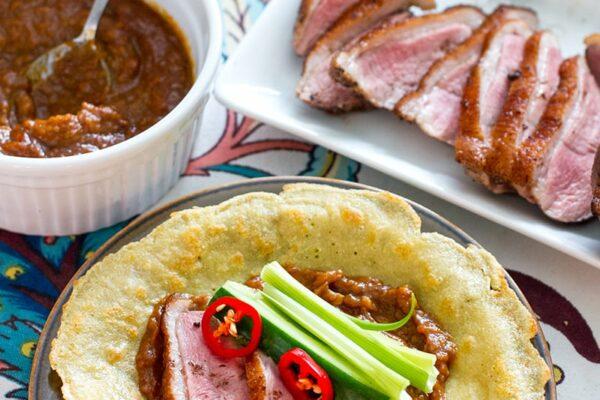 Paleo Duck Pancakes (Peking Style)