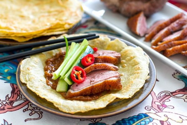 Paleo Peking Duck Pancakes With Hoisin Sauce