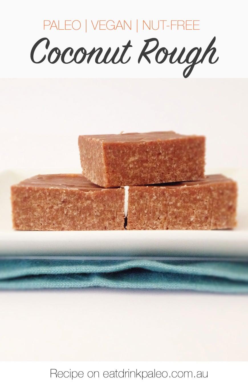 Coconut Rough Slice (Paleo, Vegan, Dairy-free, Grain-free, Gluten-free, Nut-free)