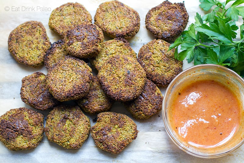 Paleo Falafels With Spicy Aioli