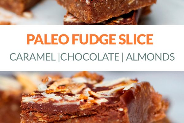 Paleo Fudge Slice With Nuts, Dates & Coconut Oil (Vegan, Paleo)