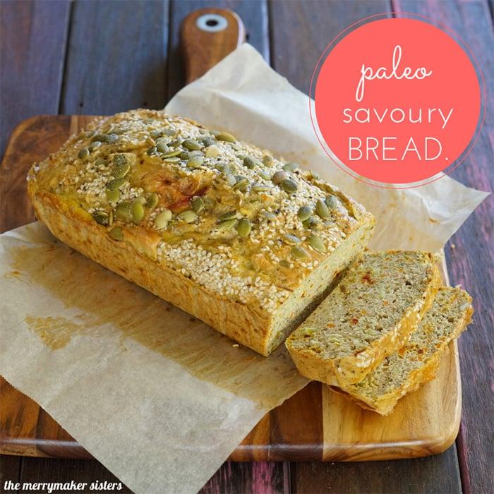 Paleo savoury bread