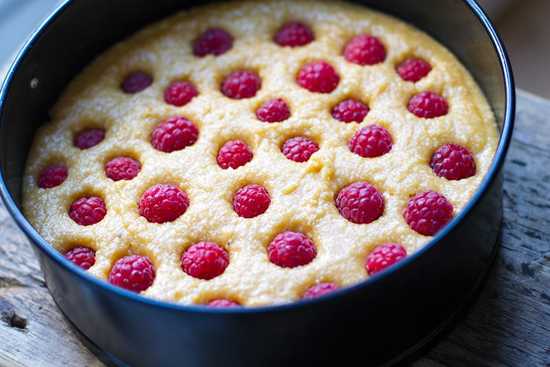 paleo-coconut-raspberry-cake-making
