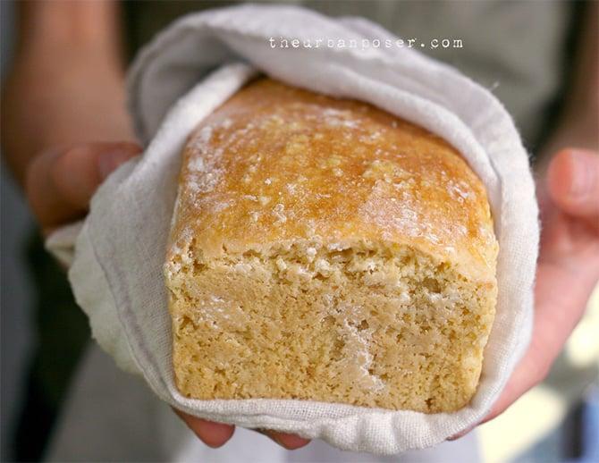 Grain-free cashew sourdough paleo bread