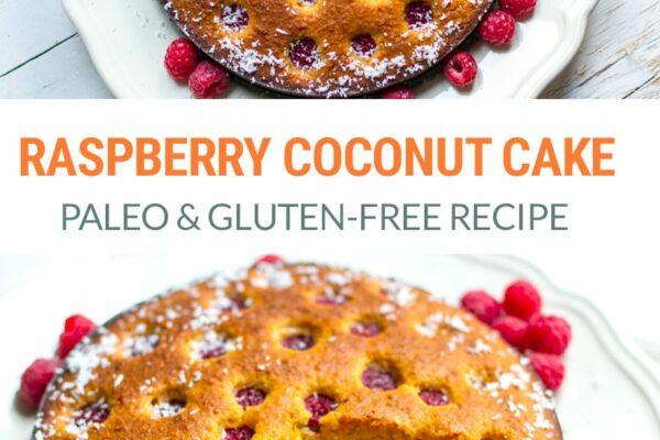 Raspberry Coconut Cake - Paleo & Gluten-Free Recipe
