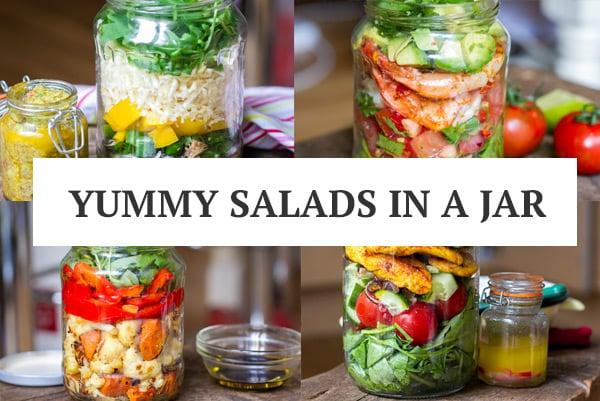 Paleo Salads In Mason Jars