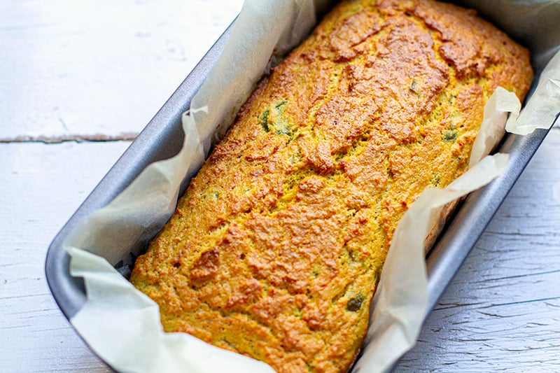 How to make paleo bread with coconut flour - finished bread loaf