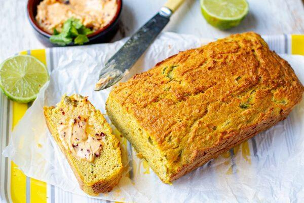 Jalapeno Coconut Bread With Chipotle Butter (paleo, gluten-free, grain-free)